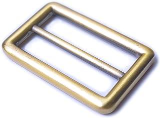 Bobeey 5pcs 3/4'' Brussed Brass Round Metal Adjuster SlidersBelt SlidersBuckle Triglide For Strap Keeper Leathercraft Bag ...