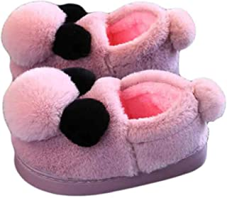 Seipe Toddlers Indoor Anti-Slip Shoes Outdoor House Household Fuzzy Slippers