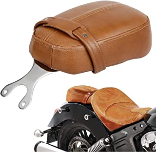tan leather motorcycle seat