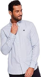 Timberland Blue Oxford Slim Shirt For Men, Medium