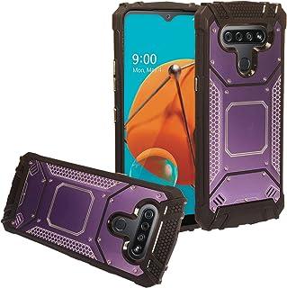 CELZEN - for LG K51, LG Reflect (LM-K500) - Aluminum Metal Hybrid Phone Case - ZY1 Purple