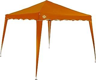 comprar comparacion Deuba Pabellon de Jardin cenador Capri Naranja 3x3 m Carpa Plegable de jardín Impermeable y Pop Up para Eventos Camping