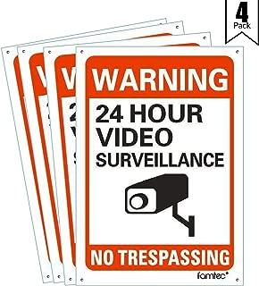 Famtec Video Surveillance Sign Outdoor Warning Sign | 7