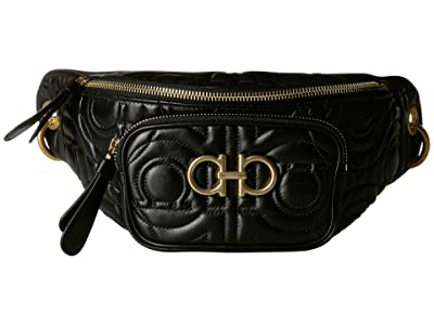 Salvatore Ferragamo Quilted Belt Bag (Nero) Handbags
