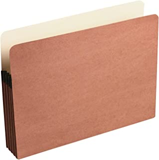 Wilson Jones Red Rope File Pockets, 3.5 Inch Expansion, Tyvek Reinforced Top Gussets,