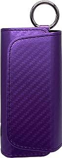 Gemorisy - Portasigarette per Iqos3/3duo, in stile carbonio, con caricatore tascabile, 2 in 1, in ecopelle, con custodia i...