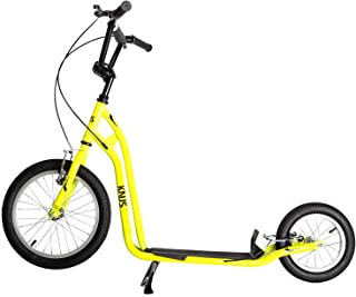 KNUS Scooter for Youth and Adults-16-Inch Front Wheel,12-Inch Rear Wheel/Front and Rear Caliper Brakes/Multiple Colors