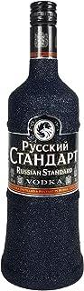 Russian Standard Vodka 0,7l 700ml 40% Vol Bling Bling Glitzerflasche in schwarz -Enthält Sulfite