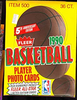 1990 91 fleer basketball box