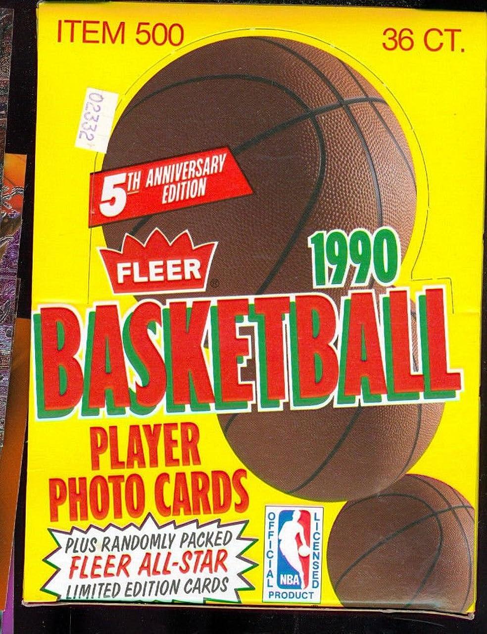 1990-91 Fleer Basketball Card Set Wax Pack Box