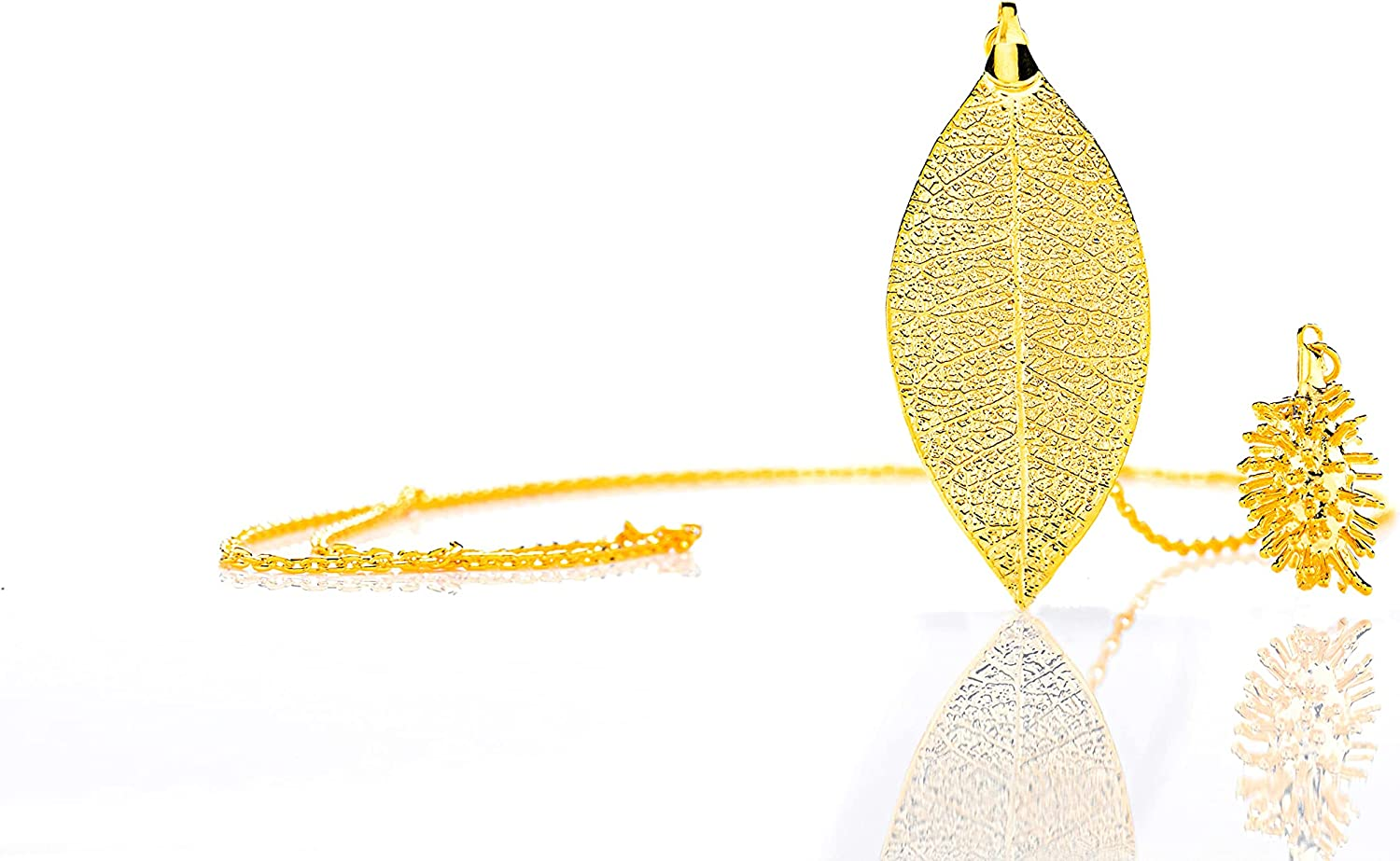 Amarjon BioJewel Yellow Gold-Plated Amazon Ranking TOP8 Max 43% OFF N Quina Leaf And Burr