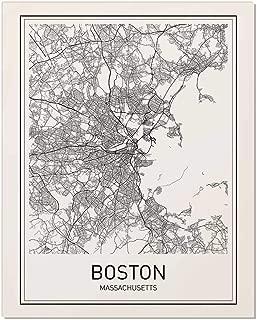 Boston Poster, Boston Map, Map of Boston, Boston Art, Minimalist Poster, City Map Posters, Massachusetts Map, Black and White, Map Wall Art, Map Art, Scandinavian Poster, 8x10