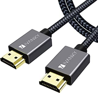 Cavo HDMI Ultra HD 4K【2M/6.5ft】, iVANKY Cavo HDMI 2.0, Compatibile con 4K@60HZ, Ultra HD, 3D, Full HD 1080p, HDR, Arc, Alt...