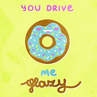Amai store You Drive Me Glazy Funny Donut Print Kitchen Pun Pun Wall Metal Square Tin Sign Kitchen and Dining Room House Decor Food Drink Bar 12x16 Inch Tin Sign