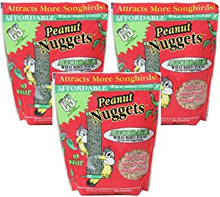 C&S Products Peanut Wild Bird Nuggets [Set of 3]