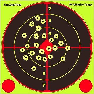 JingZhouYang Shooting Targets 10 Inch Self Adhesive Paper Reactive Splatter Targets Stickers 40 & 20 Pack for Gun Rifle Pistol Bb Gun Airsoft Pellet Gun Air Rifle