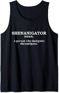 Shenanigator Shenanigans Funny St Patrick's Day St Patty Day Tank Top