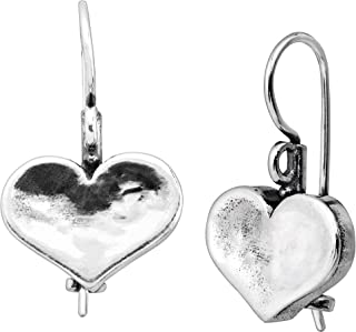 Silpada 'Heart on the Line' Heart Drop Earrings in Sterling Silver