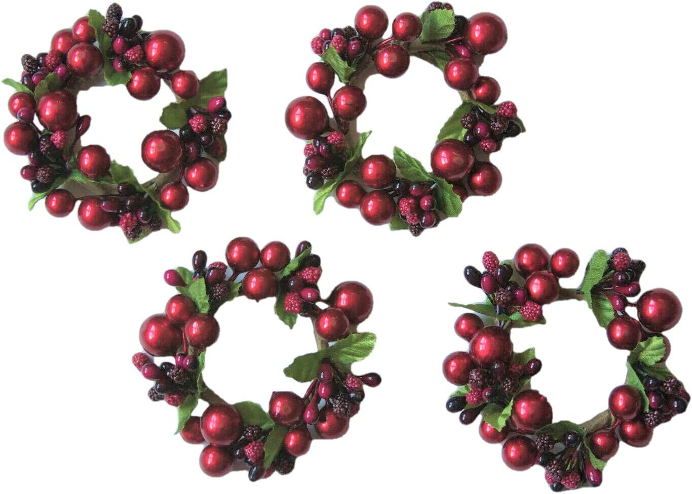 Christmas Holiday Berries Napkin Holder Topics on TV of Set Sales for sale Rings 4