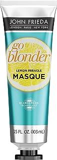 John Frieda Go Blonder Lemon Miracle Masque, 3.5 Ounce In-shower Hair Treatment, Helps Strengthen Lightened Hair Fibers