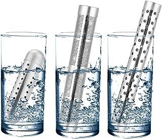 3 Piezas Portátil Agua Alcalina Stick PH Alkalizer Ionizador Hidratante Minerales Varita de Agua Purificador de Filtro