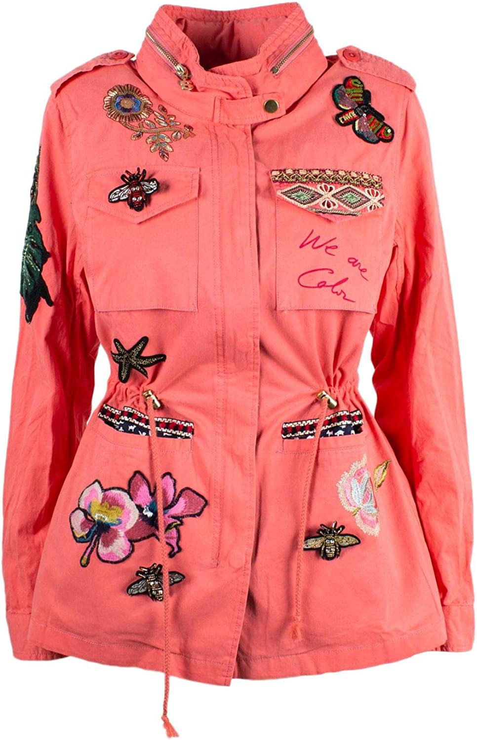 Desigual Women's 19SWEW46PINK Pink Polyester Outerwear Jacket