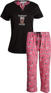 Rene Rofe Women's Sleepwear Capri Pants with Short Sleeve Top Pajama Set