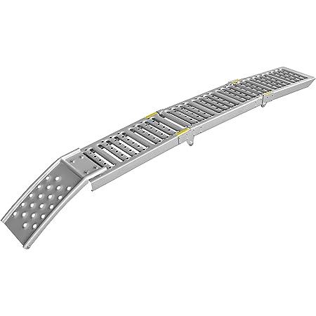 LAS 10607 - Rampa plegable de acero, color plateado