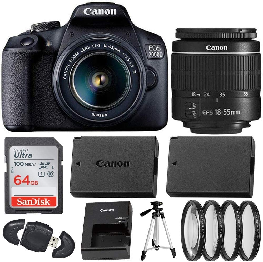 Canon EOS 2000D Rebel T7 Indefinitely Digital Camera 18-55mm 2021 autumn and winter new with DC SLR II