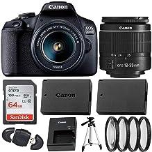 Canon EOS 2000D (Rebel T7) Digital SLR Camera with 18-55mm DC III Lens Kit (International Model) Professional Accessory Bu...