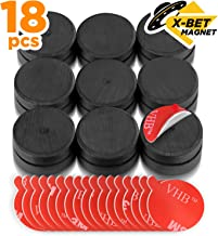 Ceramic Magnets with Adhesive Backing - 1 Inch (25mm) Round Disc Magnets - Ferrite Craft Magnets - Peel and Stick Circle Magnets - Small Magnets with 3m Dots - 18 PCs
