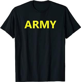US Army APFU Logo PT Shirt Workout Training Gym Uniform