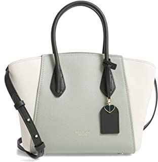 Kate Spade New York Grace Medium Leather Satchel Bag, Light Pistachio Multi