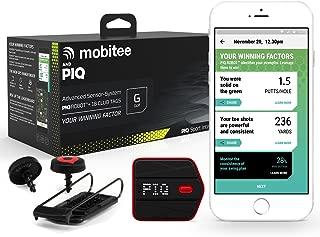 Mobitee & PIQ Wearable Golf Sport Tracker - Golf Course GPS Rangefinder on your wrist, Club GPS Shot Tracker, Club Shot Statistics, Golf Swing Analyzer