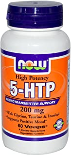 Now Foods 5-HTP 50 mg - 180 Capsules 12 Pack