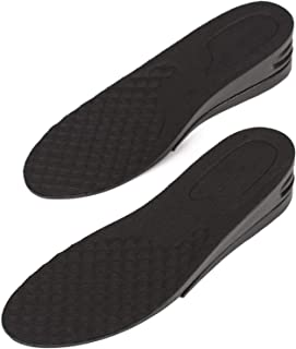 Height Increase Adjustable Elevator Shoe Lift Insoles for Men - 1 or 1.5 Inch Taller Heightening Liftkits - Size Small
