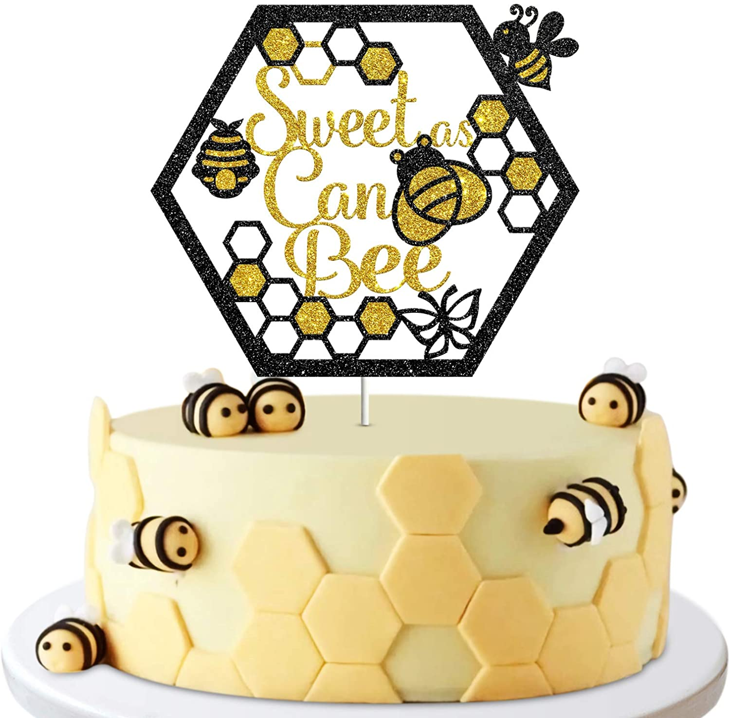 Los Angeles Mall Sweet As Can Bee Sign Cake Decor B Happy Topper Birthday Party Max 65% OFF