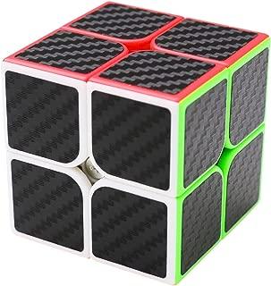 coolzon Puzzle Cube 2x2x2 Cubo Magico con Pegatina de Fibra de Carbono Velocidad