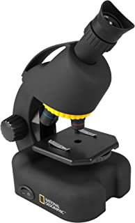 NATIONAL GEOGRAPHIC Intermediate Compound Microscope for Kids – Battery Powered 40X-640X Zoom Microscope Including Science Kit - LED Illumination & USB Eyepiece Directly Connects to Computer