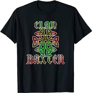 Baxter Scottish Clan Family Name Tartan Knot  T-Shirt