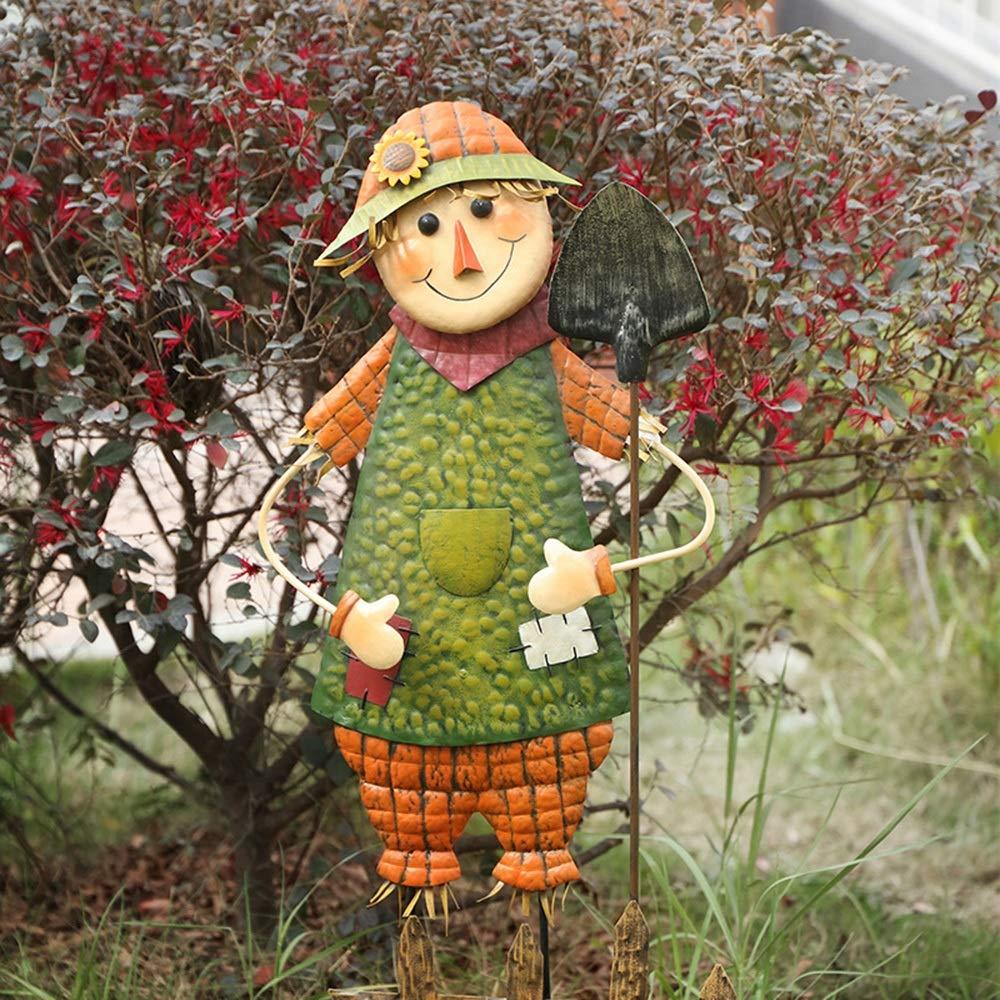 Xihou Decorations - Espantapájaros de Hierro simulado para jardín, decoración de Dibujos Animados, decoración de Paisaje, la Naturaleza del Arte, Medium: Amazon.es: Hogar