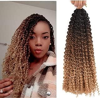 AliRobam18inch Water Wave Passion Twist Crochet Braids Braiding Hair Weave 6packs 22Roots Synthetic Passion Twist Crochet Braid Hair Extensions (18inch passion twist, Black-dark brown-light brown)
