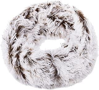 Premium Soft Small Long Faux Fur 2-Tone Infinity Loop Circle Scarf -Diff Colors