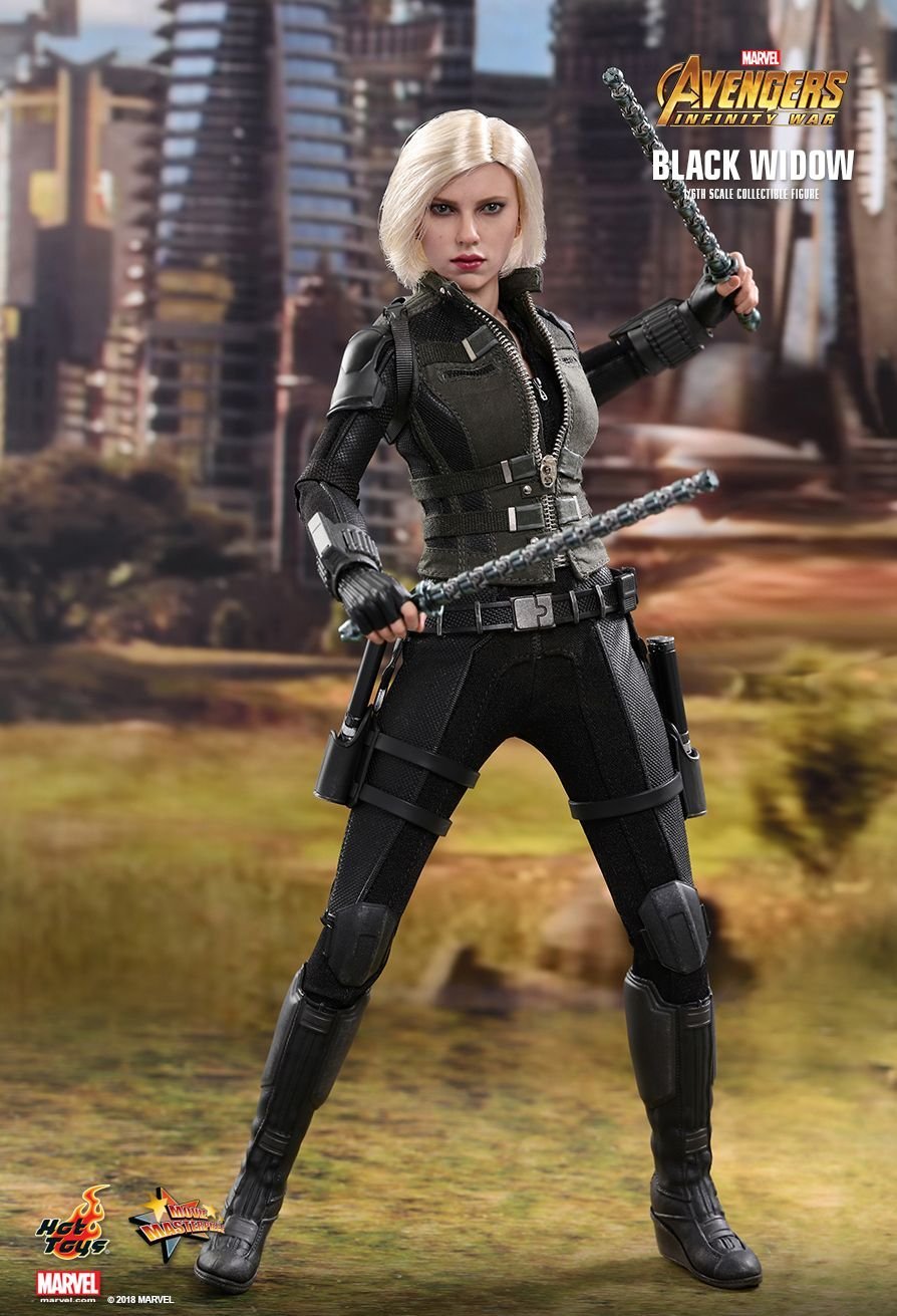 Amazon Com Hot Toys Movie Masterpiece Avengers Infinity War 1 6 Scale Figure Black Widow Japan Limited Toys Games