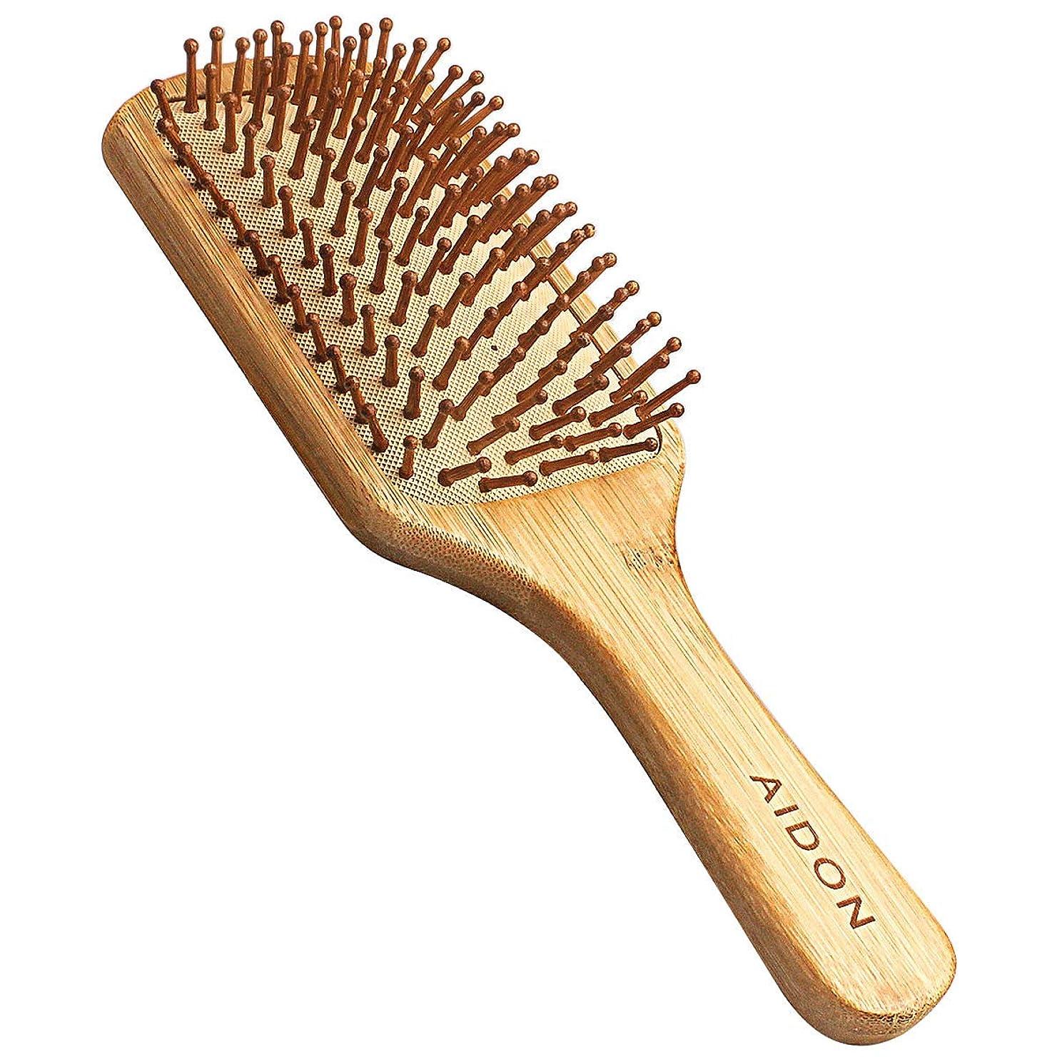 珍しい手足役に立つAIDON ヘアブラシ ヘアケア 頭皮マッサージブラシ 櫛 木製 天然竹