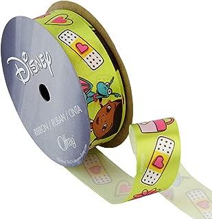 Lion Ribbon 7/8'' Doc McStuffins Ribbon Mega Bandaid Green, Gold/Red/Black