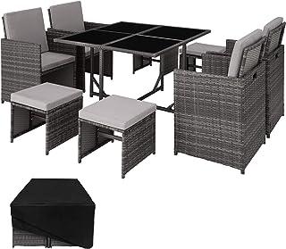 TecTake Conjunto Muebles de jardín en ratán sintético
