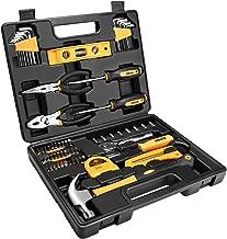 DEKOPRO 65 Piece Tool Set General Household Hand Tool Kit with Plastic ToolBox Storage Case