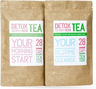 28 Days Cleanse Tea: Detox Skinny Herb Tea - Effective Detox Tea, Only Natural and Organic Ingredients, Full Body Cleanse, Teatox