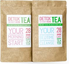 28 Days Teatox: Detox Skinny Herb Tea - Effective Detox Tea, Only Natural and Organic Ingredients, Full Body Cleanse, Teatox
